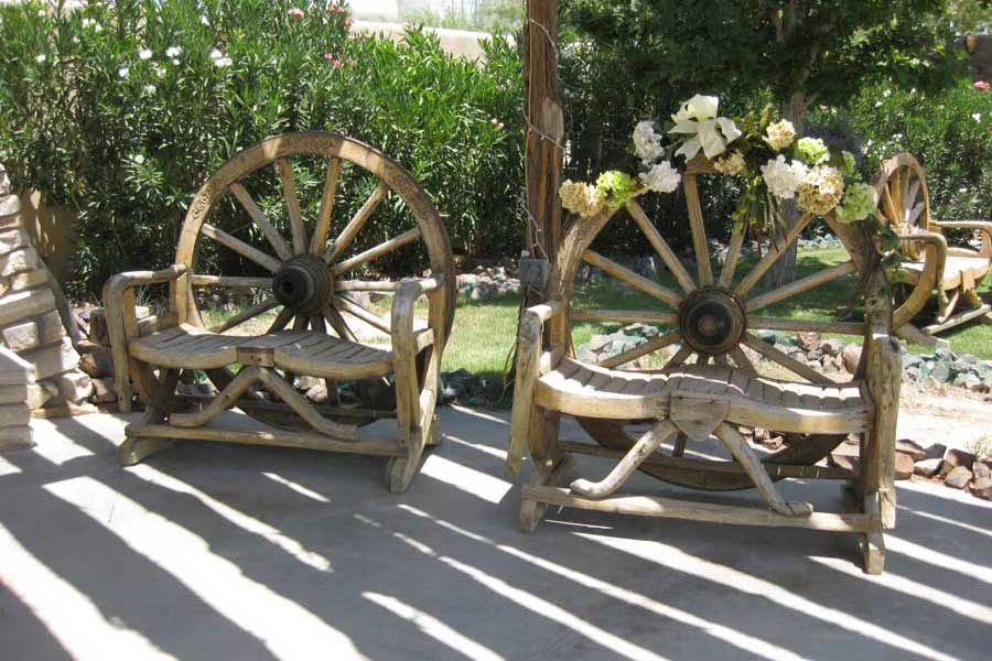 Bride and Groom's Chairs at Cavalry Post