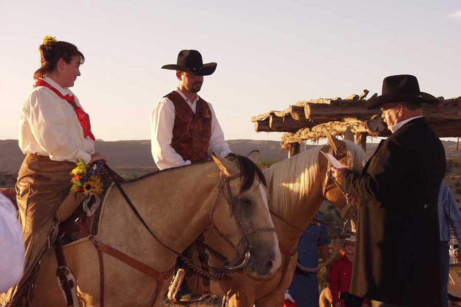 Cowboy Wedding Ceremony